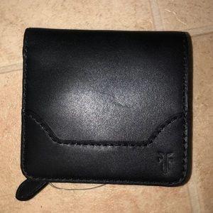 Frye Melissa Small Snap Button Wallet - Black